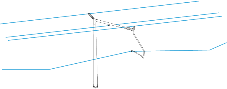Tomahawk overhead line structures