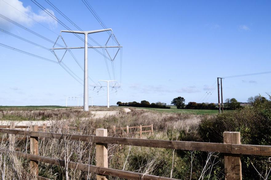 T-pylon overhead line structures
