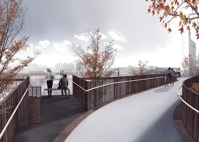 Landgangen Esbjerg Havnepromenade og gangbro - K&I