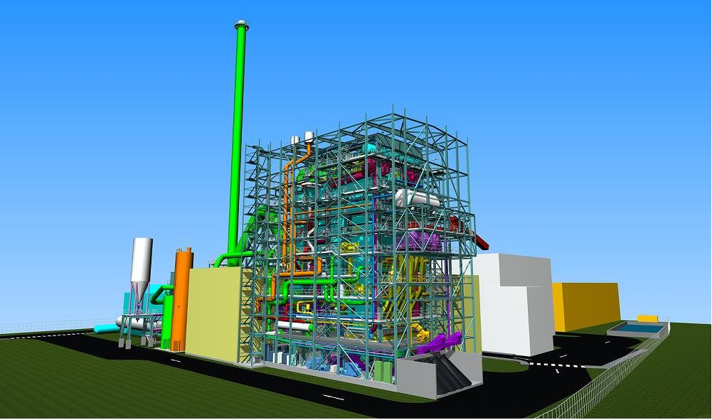 tilbury green power facility 3d model