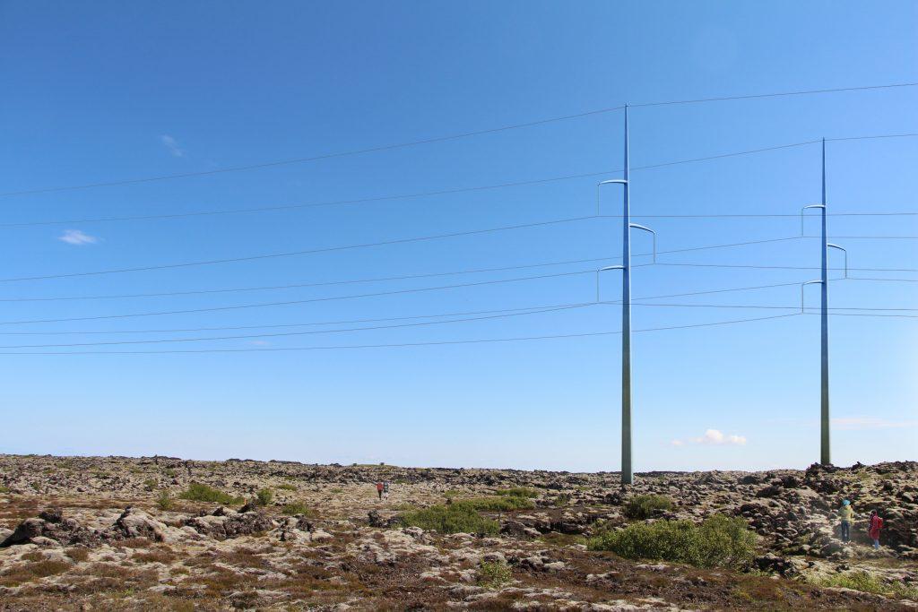 landsnet 220kV pylon