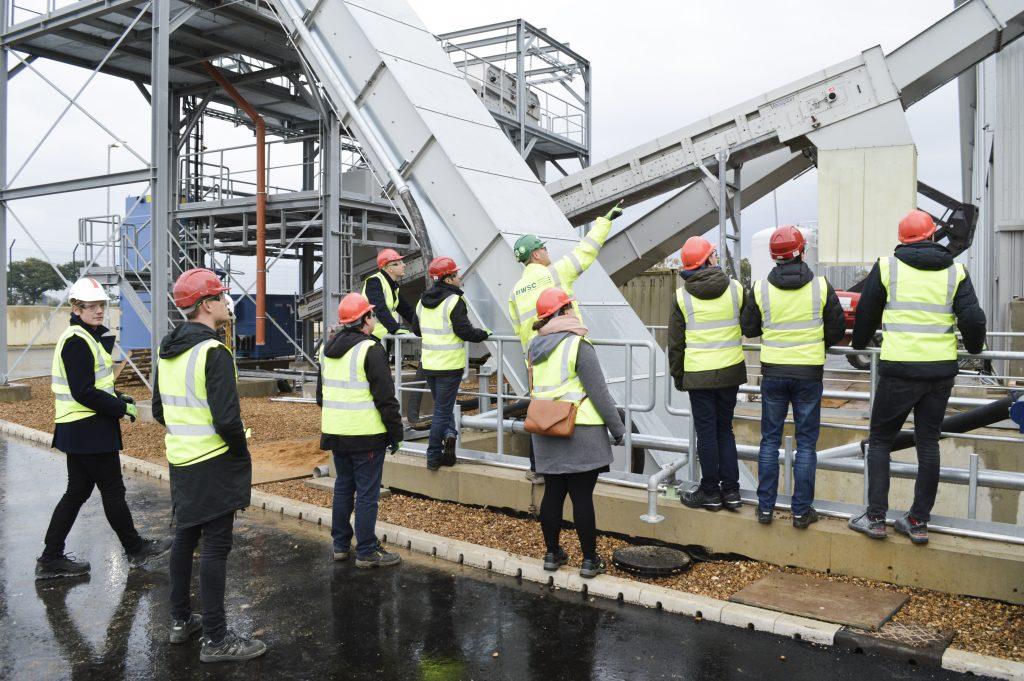 Snetterton renewable energy plant steel structure