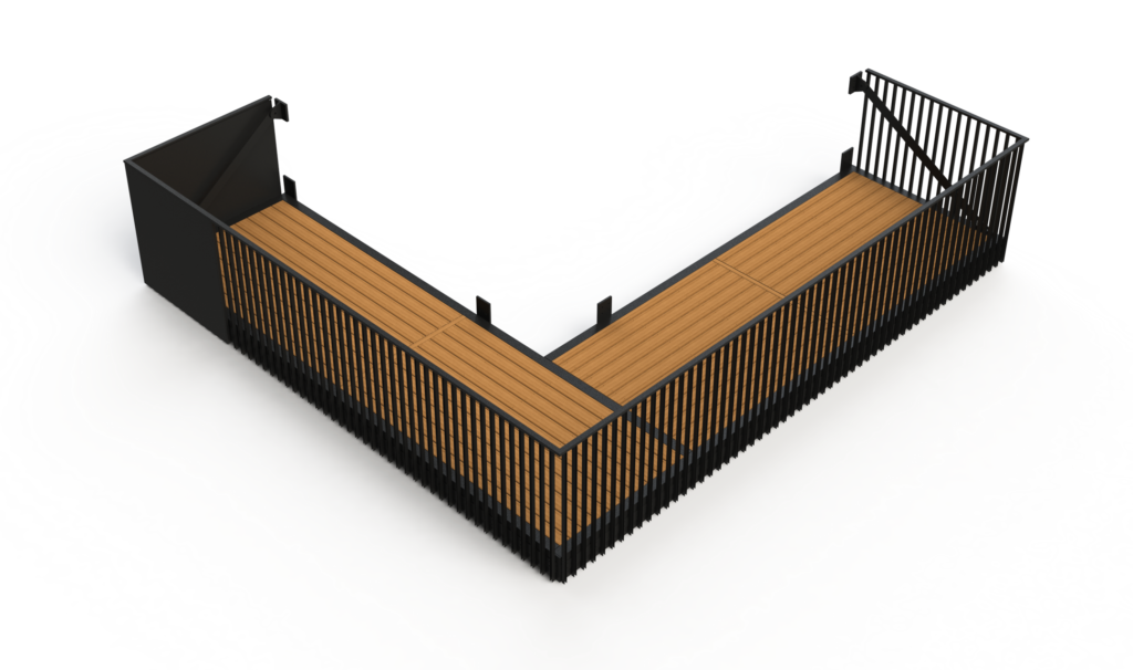 Strandholmen balcony render, from our engineering consultancy
