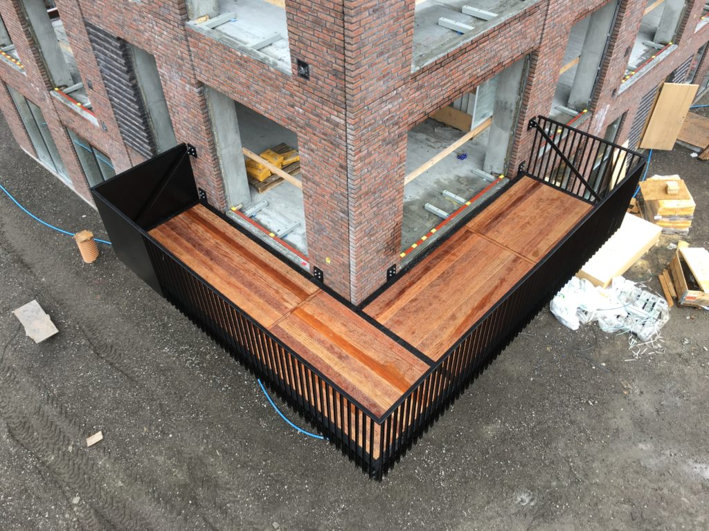 Strandholmen balcony finished, from our engineering consultancy