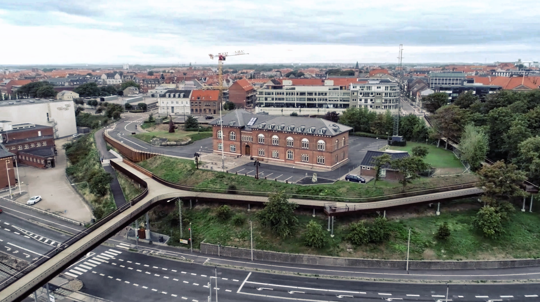 Landgangen Esbjerg promenade gangbro