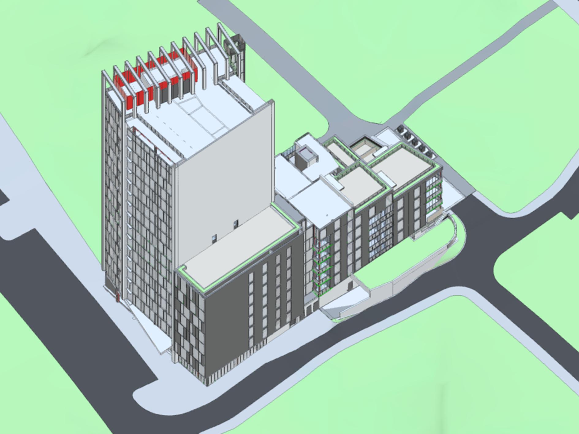 Radisson Red Reykjavik 3D model