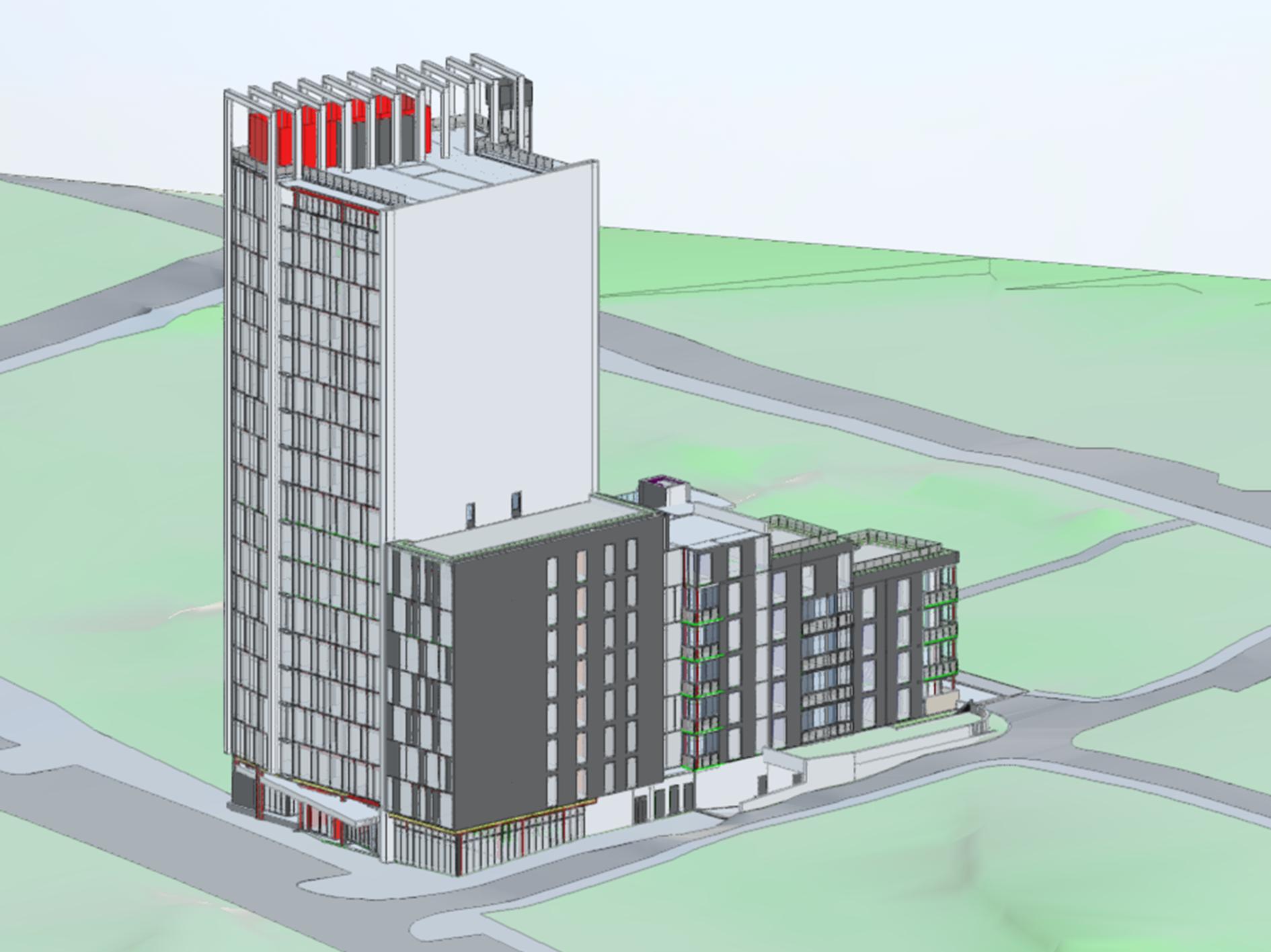 3D model radisson red reykjavik