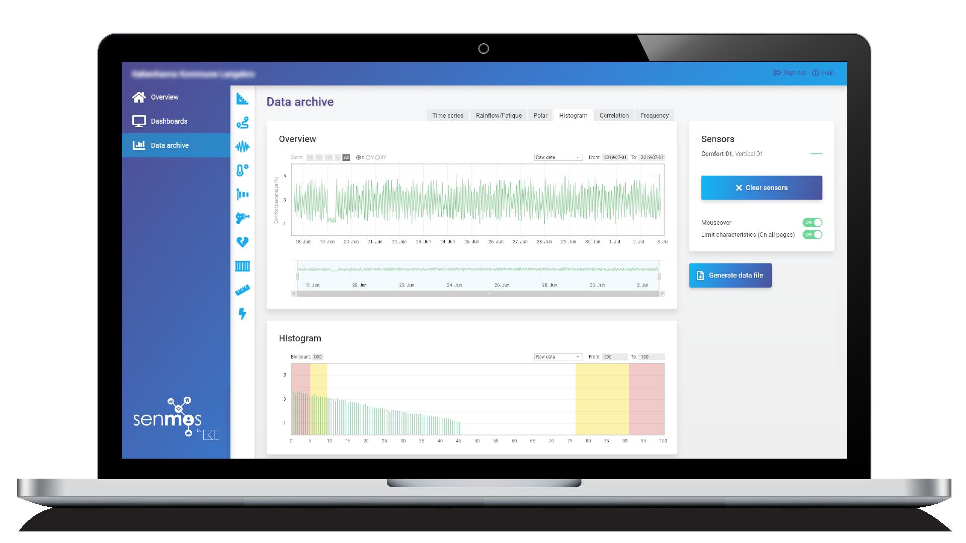 senmos structural health monitoring platform